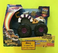 ❤️Blaze and The Monster Machines Talking Toy Super Tiger Claws Stripes 2016❤️