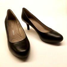 Rockport Adiprene Walkability Womens 9.5M Black Leather Mid Heel Pumps Shoes