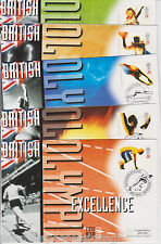 Mercury 1996 British Olympic Excellence Covers Olympics SET OF 5 FDC GB