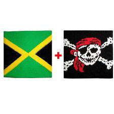 Couple wristbands Jamaica + skull bandana sponge groups rock and flags