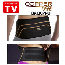 Men Women Copper Fit Back As Seen On TV Compression Lumbar Support Belt S/M