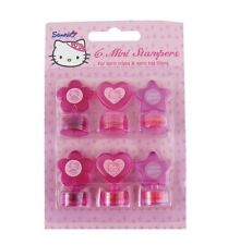 HELLO KITTY 6 Mini Stampers (Party Bag Filler/Prizes/Kids/Birthday/Gift) [Gemma]