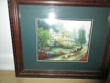 "Thomas Kinkade Framed limited edition Lithograph "" Sunday at apple Hill"" 2002*"