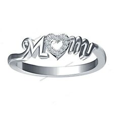 Over 925 Silver Valentines Day Spacial Ring 0.20 Ct White Diamond 14K White Gold