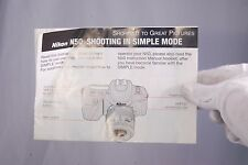 Nikon Camera N50 Shooting in Simple Mode BROCHURE (EN) 7209048