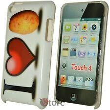 Cover Custodia Per iPod Touch 4 4G Amo La Patata + Pellicola Proteggi Schermo
