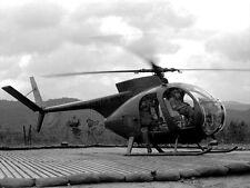 Vietnam 1970 - LOH (Loach) Light Observation Helicopter OH-6 Cayuse - Chu Lai