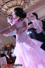 Girl Custom Pre-Owned Junior Ballroom Standard Dance Dress Gown w Swarovski