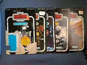 Star Wars Vintage Kenner Action Figure Cardbacks - Lot of 5 R2-D2 C-3PO Yoda etc