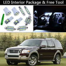 13PCS Pure White LED Interior Lights Package kit Fit 2006-2010 Ford Explorer J1