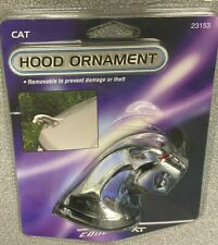 COUGAR HOOD ORNAMENT, BLOOD RED EYES, CHROMED FINISH...AWESOME!!, NEW