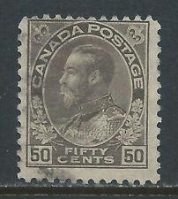 Canada #120ii(7) 1923 50 cent brown black KING GEORGE V Used CV$3.00