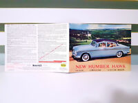 New Humber Hawk! Vintage Automobile Advertising Booklet!