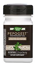 Nature's Way, Pepogest, Peppermint Oil, .2 mg, 60 Softgels