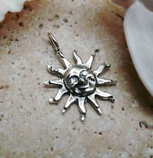 Sun Smile Charm Pendant For Necklace & Bracelets Sterling Silver 925