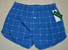 03b60ec01 Lacoste Mens Medium Royal Blue Alligator Print Boxer Underwear
