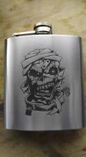 eddie iron maiden themed hip flask