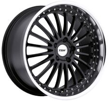 18x8 TSW Silverstone 5x108 Rims +40 Black Wheels (Set of 4)