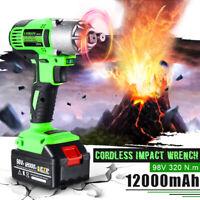98VF 320NM 12000mAh Impact Wrench Drill Screwdriver Cordless Electric Tool Gun