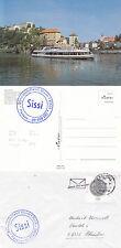 FIUME tedesco NAVE DA CROCIERA MS Sissi un Navi inseriti nella cache COPRI e una cartolina a colori