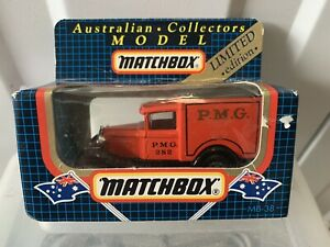 Mint Matchbox MB38 Ford Model A PMG Australia Post Collectable In Original Box