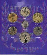 Jewish Leaders 7 Unc Coin Set Herzl Ben-gurion Rambam Eshkol Weizmann Rothschild