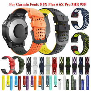Quick Fit Watchstrap For Garmin Fenix 6 6X /6 6X Pro Silicone Easyfit Wrist Band
