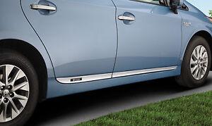 Genuine Toyota Lower Door Moldings for 2012-2015 Toyota Prius Plug-In-New, OEM