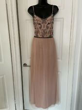 Boohoo Dusky Pink Summer Party Long Dress Size 16