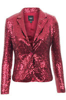 NEW LADIES WOMENS GLAMOROUS LOOK BLINGY SEQUIN BLAZER PARTY LONG SLEEVE JACKET