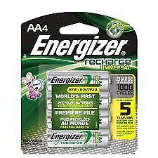 Energizer Recharge Universal, AA4 (2 packs = 8 batteries)