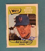 Topps Archives Tug McGraw Autograph Baseball Card New York Mets