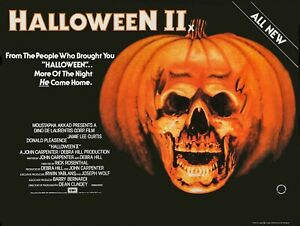 "HALLOWEEN II 2 1981 JOHN CARPENTER High Quality Repro 30""x 40"" quad poster"
