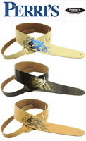 """Perris Leathers 2.5"""" Adjustable Leather Guitar Strap w/ NUDE WOMAN - PICK COLOR"""