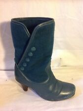 Fly London Verde Tobillo Botas De Cuero Talla 36