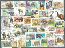 Elephants on stamps collection 100 all different