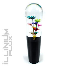 8 INCH MULTICOLOR FLOWER BOUQUET CLEAR AND BLACK DRIFT SHIFT KNOB 12X1.25 K15