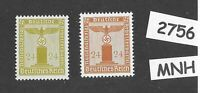MNH WWII stamp set / 1938 & 1942 official issues / PF24 /  Third Reich Germany