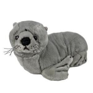 "Sid the Fur Seal Sea Lion Plush Toy 14""/36cm Grey Bocchetta Plush Toys"