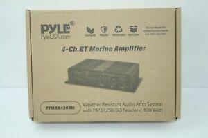 Pyle 4ch-bt Marine Amplifier 400w Weather Resistant Waterproof_US STOCK