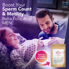 BELTA Folic Acid Supplement for Men Tablets to Boost Sperm Count and Motility