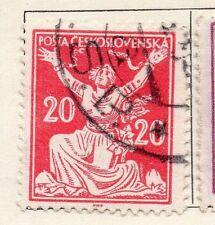 Tchécoslovaquie 1920 early question fine utilisée 20h. 077201