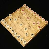 NEW Wooden Chinese Chess Set in a Foldable Box Travel Games Sets Xiangqi Board