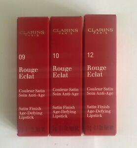 Clarins Rouge Eclat Satin Finish Age-Defying Lipstick .... Choose Shade ....