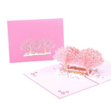 Cherry Blossom Tree Pop Up Greeting  3D Card Gift Valentine Wedding Anniversary