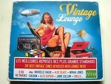 VINTAGE LOUNGE - DOUBLE CD, 40 TRACKS (NOUVELLE VAGUE, NORAH JONES, COCOON...) -