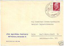 Geschäftspost, zbe agrobau Kamenz, o Kamenz 1 Kamjenc 1, 1.10.71, SSt