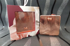 Ted Baker Rose Gold Double Sided Compact Travel Purse Bag Mirror Brand New Boxed