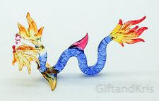 Figurine Animal Hand Blown Glass Naga Dragon - Gtdg019