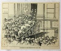 1884 magazine engraving ~ SUSPENSION OF METROPOLITAN BANK, 1884